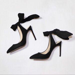 ❣️ ZARA Slingback Bow Tie Heels